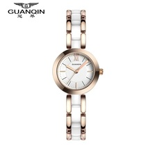 Watches Women 2016 GUANQIN Luxury Lady Quartz Watch Ladies Fashion Casual Waterproof Ceramic Bracelet Wristwatch Montre Femme