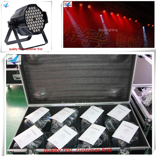 (6lot/CASE)Dj light disco wholesale factory price rgbw 54x3w led par light rgb 3w