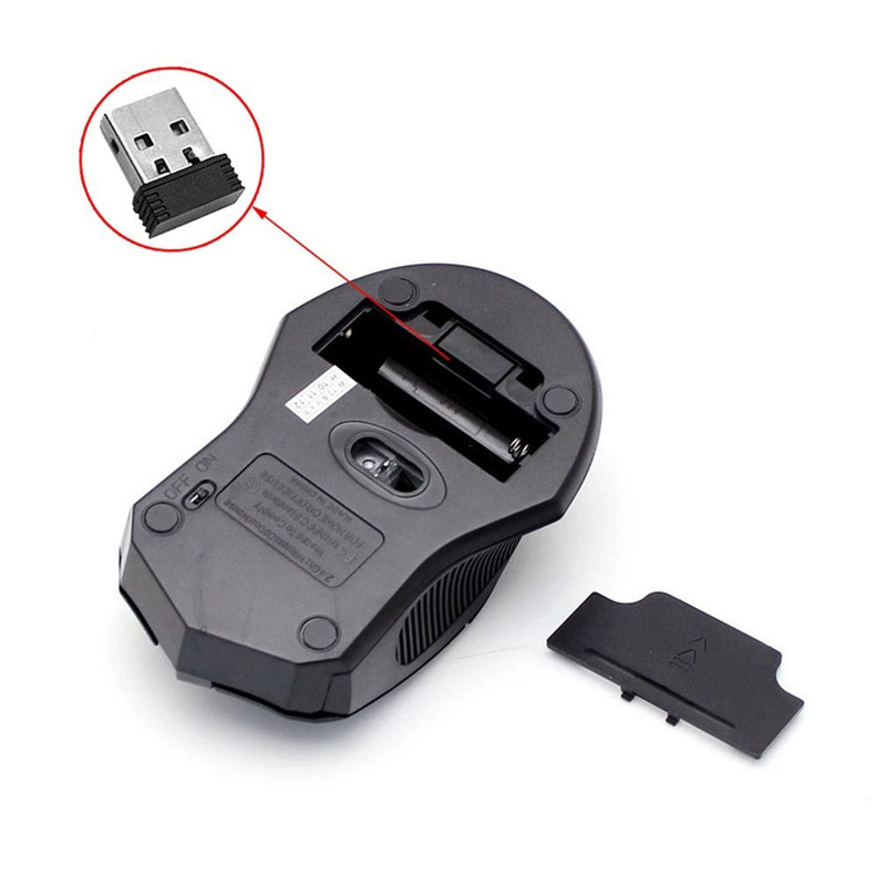 Newest Gaming Mouse Wireless 2.4 GHz Wireless Optical Mouse Mice + USB 2.0 Receiver Mouse Sem Fio Wireless for PC Laptop Black