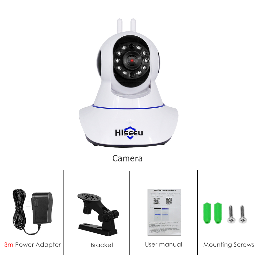 Hiseeu Baby Monitor 3MP Packing List