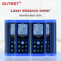 Outest 40 м/60 м/80 м/100 м лазерный дальномер цифровой лазерный дальномер угловая измерительная линейка инструмент для тестирования