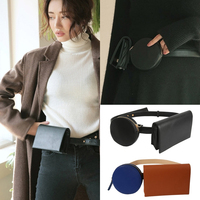 2018 Women Waist Bag Pu Leather Money Belt Bags Lady Waist Fanny Pack Lady Phone Pouch Bags Travel Belly Pack Chest Bag