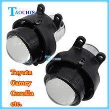 Taochis m6 araba 2.5 inç bi xenon projektör lens kiti H11 Toyota Corolla Sis Ampuller Kristal Temizle foglights Için Adanmış lamba