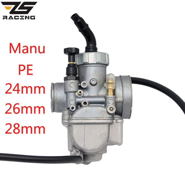 ZS Racing Keihin PE Manu Caburetor Motorcycle 24mm 26mm 28mm Carburador For 50cc 100cc 125cc 150cc Moto