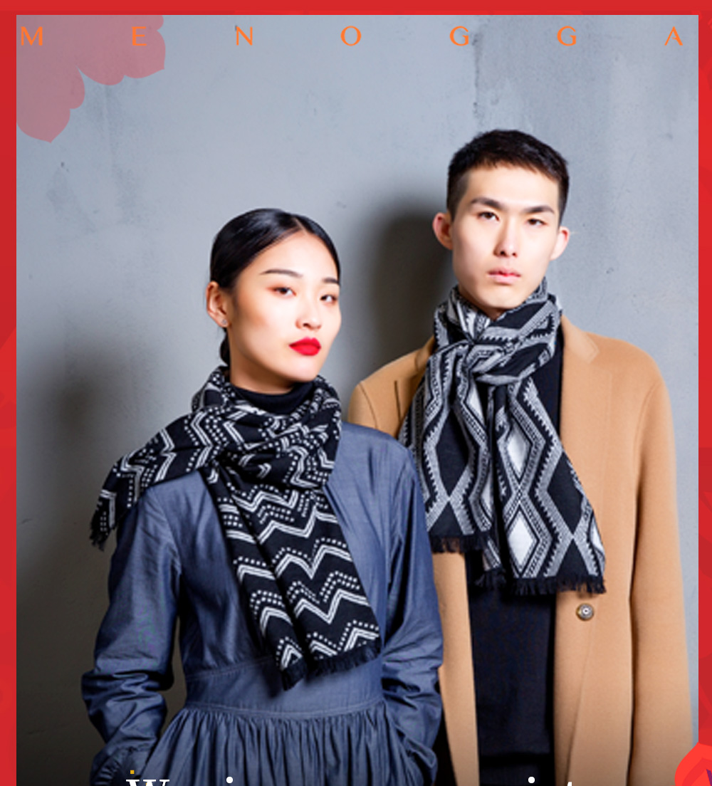 463a75562 Name: Menogga brushed silk scarf Material: silk Features: Vintage, Unisex,  Warm, Soft and Smooth Size: 30x180cm Color: black and white