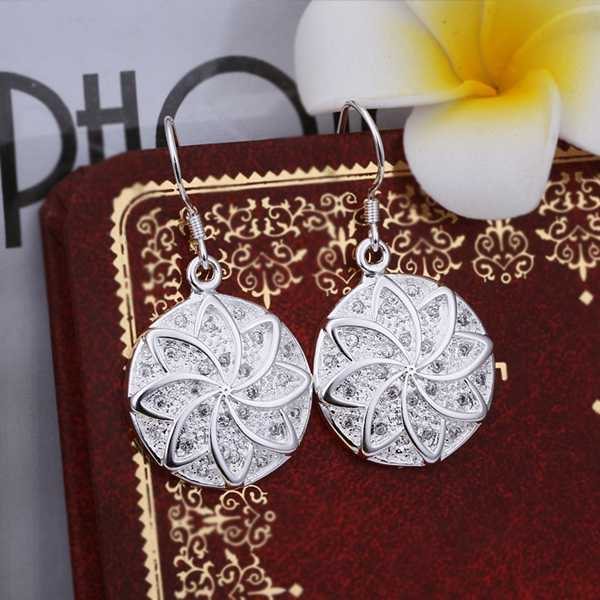 Hot Sell Wholesale Silver Earring Silver Fashion Jewelry