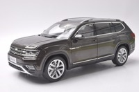 1 18 Diecast Model For Volkswagen VW Teramont Atlas 2017 Brown Large SUV Alloy Toy Car
