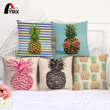 Sketch Pineapple Cotton and Linen Home Sofa Cushion Cover Office Pillow Pillowcase Wholesale Seat Home Decorative