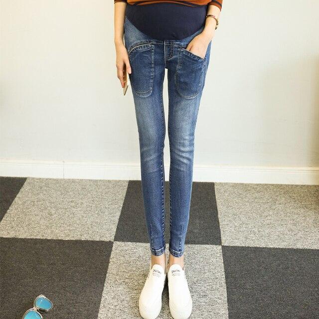 Модель для съемок весной и осенью период и новый беременных женщин джинсовые брюки моды харлан большой ярдов брюки
