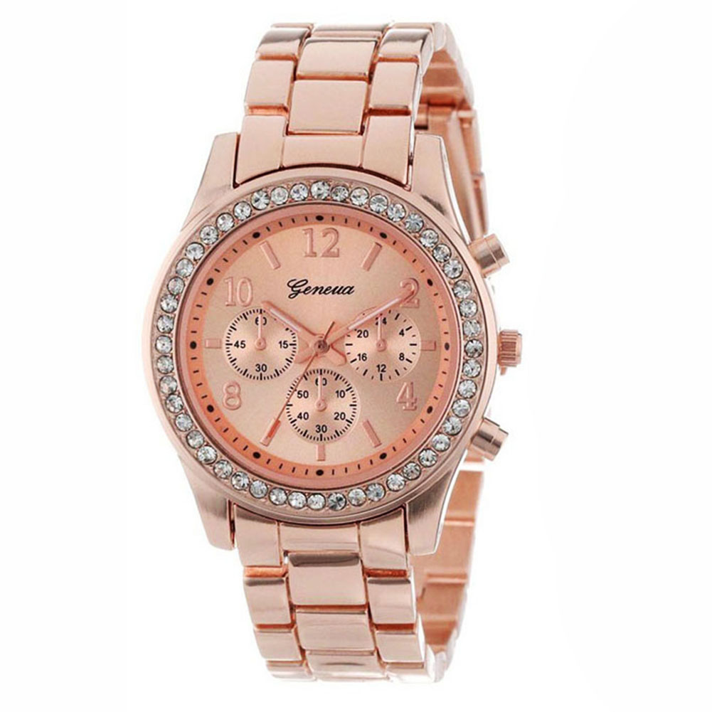 Geneva 2 PACK Rose Gold Plated Classic Round Ladies Boyfriend Watch универсальная станция unipump акваробот jet 80 l 5