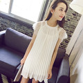 Wholesale maternity clothing summer lace cape pleated skirt fashion chiffon one-piece dress pregnancy fashion solid color dress