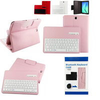 For Samsung GALAXY Tab A 9.7 T550 T555 P550 P555 Removable Bluetooth Keyboard Portfolio Folio PU Leather Case Cover