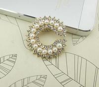 Perla tasto del rhinestone del metallo bottoni posteriore Piana button cluster per DIY della decorazione dei monili accessori Copricapo
