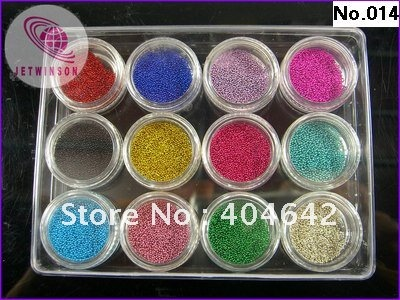 <font><b>12</b></font> POTS / LOT Essential accessories nail color ball beads marbles For Nail Art Beauty Design image