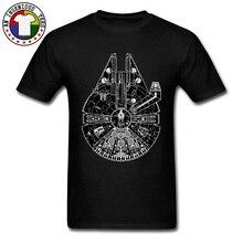 Star Wars Millennium Falcon Tatooine Printed Tshirts Starwars Darth Vader Yoda Spaceship New T Shirt For Men High Quality Tees