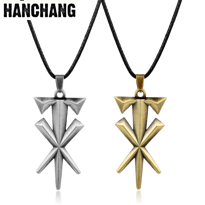 Personalized Jewelry Geometric Cross Shape Undertaker Pendant Necklace Leather Cord Statement Necklace Metal Punk Colar