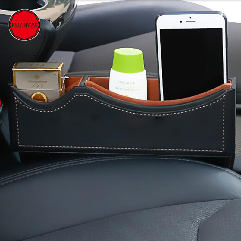 Leather Car Gap Filler Organizer Pocket Container for Tesla Model X Model S Seat Crevice Storage Box Stowing Tidying Accessories-in Stowing Tidying from Automobiles & Motorcycles    1