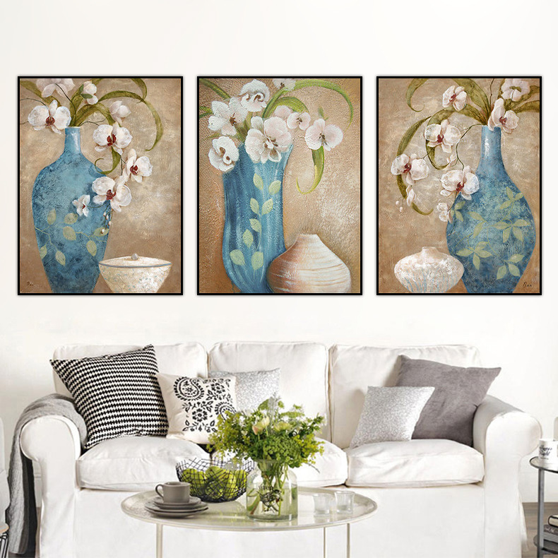 Modern rich orchid white flowers Canvas Painting Wall Art ...