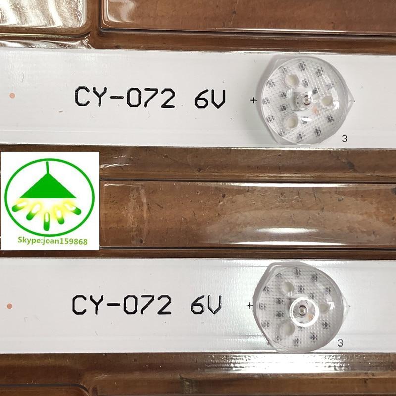 Image 4 - 4pcs/Lot 100% new 32inch LCD TV backlight strip for TCL L32P1A L32F3301B 32D2900 32HR330M06A8V1 4C LB3206 6led each lamp 6v 56CM-in Light Beads from Lights & Lighting
