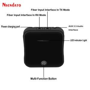 Image 2 - Bluetooth 5.0ワイヤレスオーディオアダプタ2で1ワイヤレス送信機の受信機デジタル光トスリンク/spdifとCSR8675 APTX HD