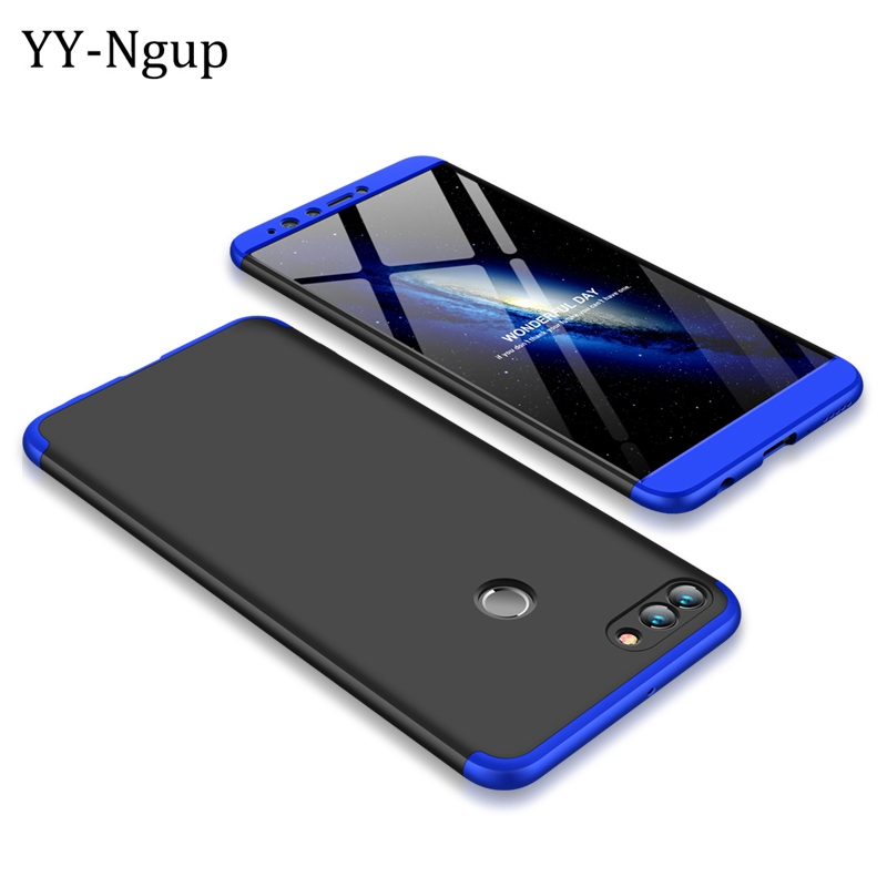 Huawei Y9 2018 360 Degrees Full Ultra-thin Phone Case Cover on for Fundas Huawei Y9 (2018) Enjoy 8 Plus Protective Case 3 in 1