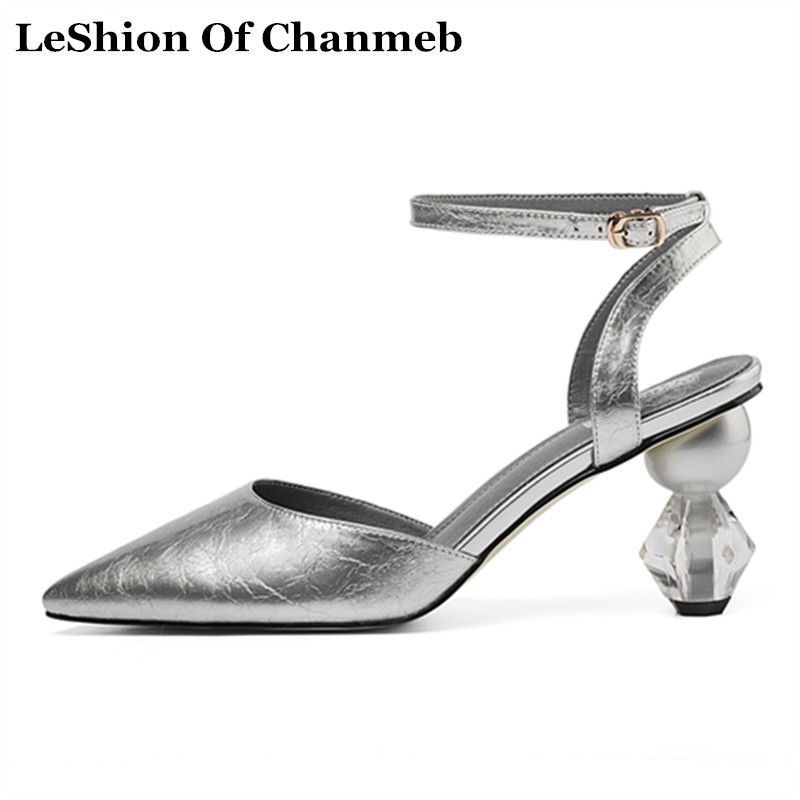 Fashion Clear Heels Spring Summer Shoes Women s EUR Size 33 43 Silver Sandals Ankle Strap