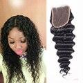 7a Deep Wave Malaysian Closure Virgin Malaysian Deep Curly Closure Deep Wave Closure Bleached Knots Lace Closures Alimoda Hair