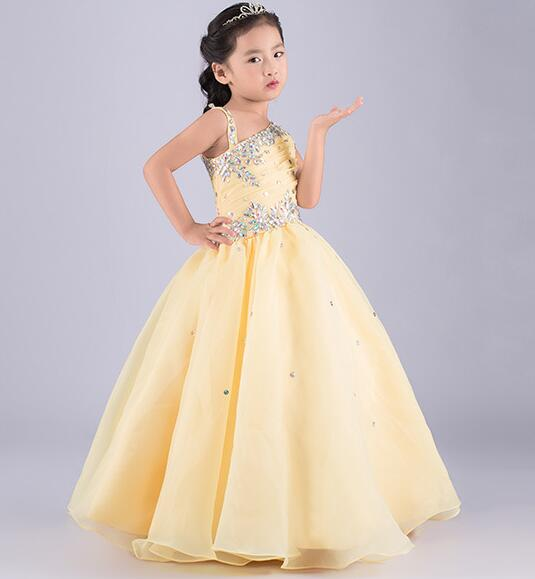 2016 beauty crystals beaded glitz little girls pageant dresses light 2016 beauty crystals beaded glitz little girls pageant dresses light yellow ball gown kids flower girl dress party gown in dresses from mother kids on mightylinksfo