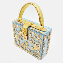 2016 Limited Promotion Women Open Pocket Single Totes Luxury Handmade Hollow Carved Diamond Hand Dinner Bag For Women's Handbag