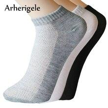 Arherigele 5pair Ženske nogavice z nizko obrezanimi nogavicami za poletni slog Tanke čolnske nogavice