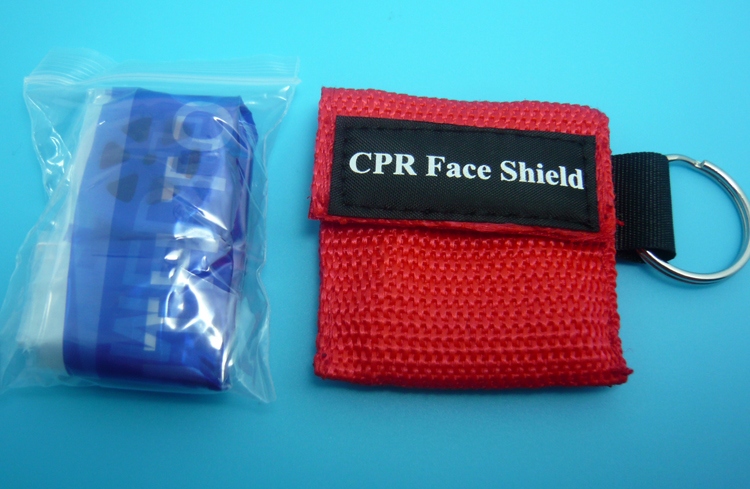 50 Pieces CPR Resuscitator Rescue Mask With Keys Chain Mouth To Mouth Protect CPR Face Shield
