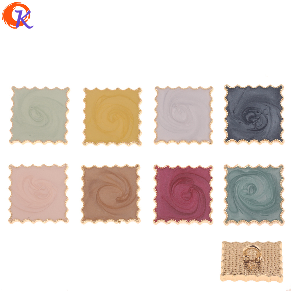 Cordial Design 30Pcs 24*24MM DIY Jewelry Making/Hair Accessories/Square Shape/Paint Effect/Hand Made/Jewelry Findings Component(China)