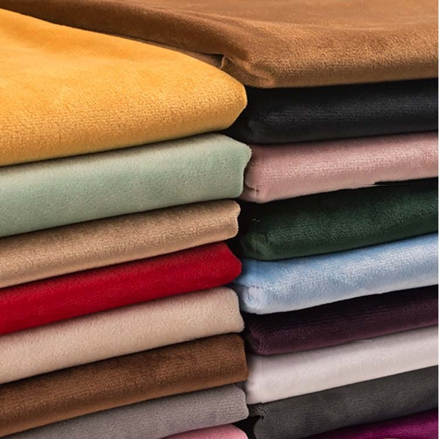 155*50 cm Ouro tecido de Veludo De seda flanela Pano de pelúcia curto Costura DIY para cortina travesseiro almofada do sofá tampa de tabela roupas D20