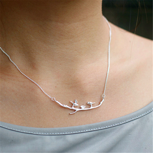 Image 4 - Lotus Fun Real 925 Sterling Silver Handmade Designer Fine Jewelry Cute Bird on Branches Necklace with Pendant for Women Collier