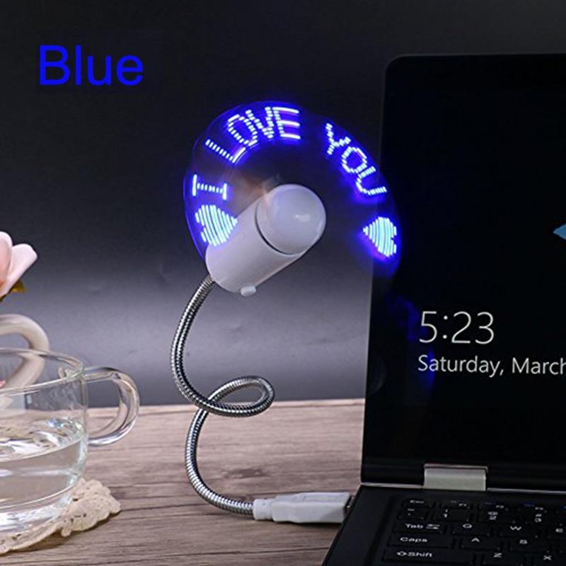 LUCOG Flexiable USB Fans Adjustable USB Gadget Mini LED Light USB Fans for PC Laptop Notebook Desktops Four Color to Option 1