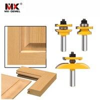 3Pcs 1 2 Shank Rail Stile Ogee Blade Cutter Panel Cabinet Router Bits Set Milling Cutter