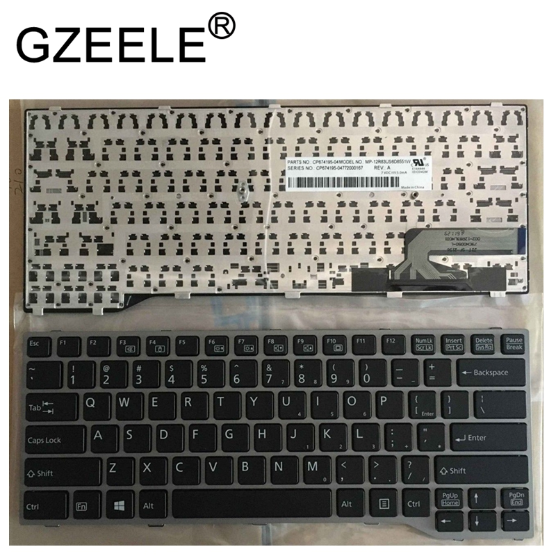 GZEELE new English Laptop keyboard FOR Fujitsu Lifebook T725 T726 sliver frame CP691163-XX CP672972 GZEELE new English Laptop keyboard FOR Fujitsu Lifebook T725 T726 sliver frame CP691163-XX CP672972