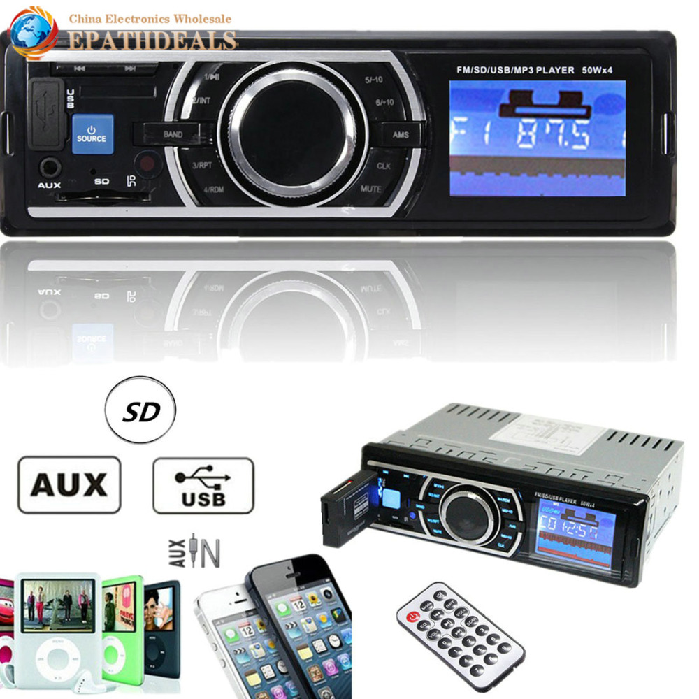 25w X 4ch Auto Car Radio Stereo Audio In Dash Aux Input