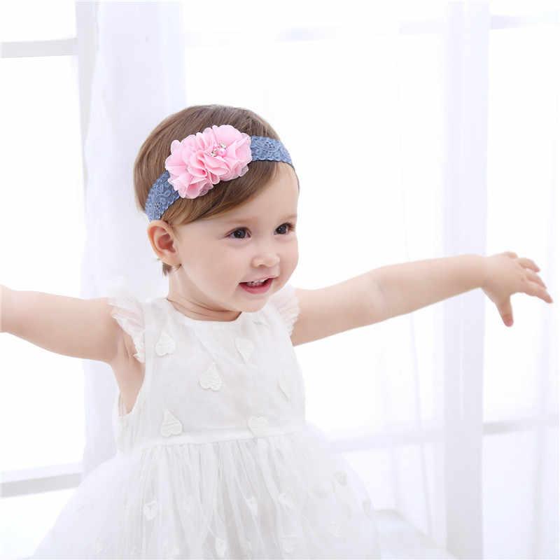... Fashion Newborn Toddler Headband Children s Cute Hair Accessories Baby  Band Lace Pentagram Flowers Girl Elastic bands ... 6bd342f52880