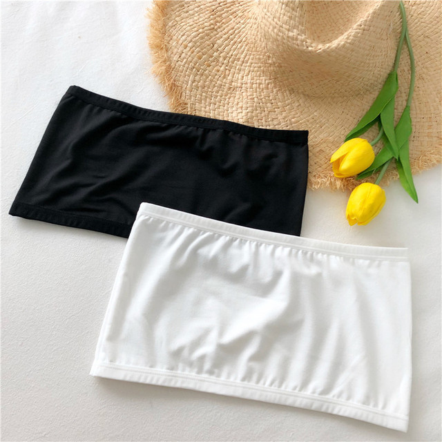 Women Crop Top Camis Black White Summer Blouse Clothes Tube Top Fashion Short Tank Tops Ladies Casual Polyester & Cotton 4