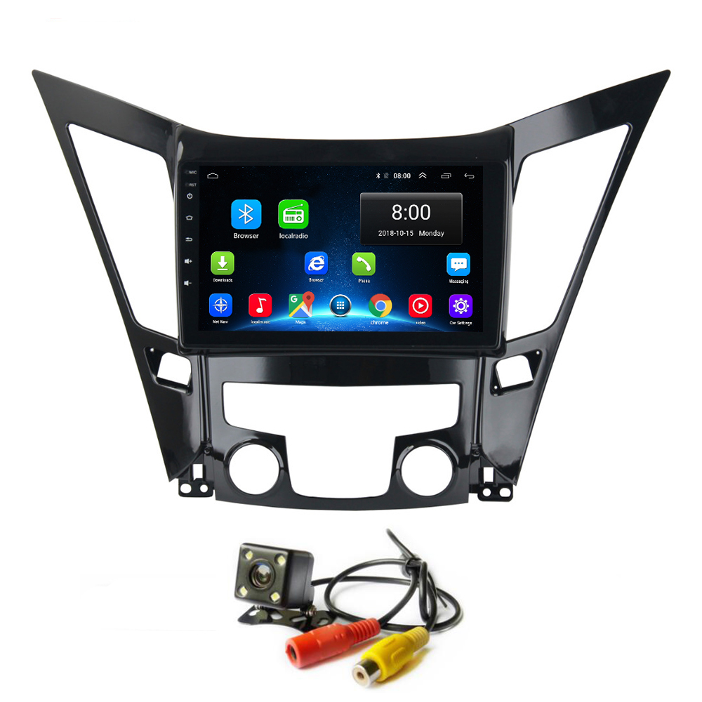 Android 8.1 Car Radio <font><b>GPS</b></font> for <font><b>Hyundai</b></font> Sonata <font><b>i40</b></font> i45 i50 2011-2014 Stereo Head Unit Wifi Bluetooth Video Maps image