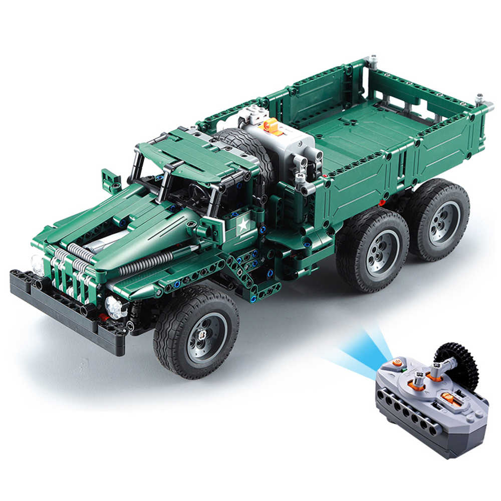 CADA RC اللبنات الصواريخ بندقية شاحنة سيارة 2in1 الخالق تكنيك العسكرية زارة التجارة الطوب نموذج legou الاطفال لعب للأطفال الفتيان