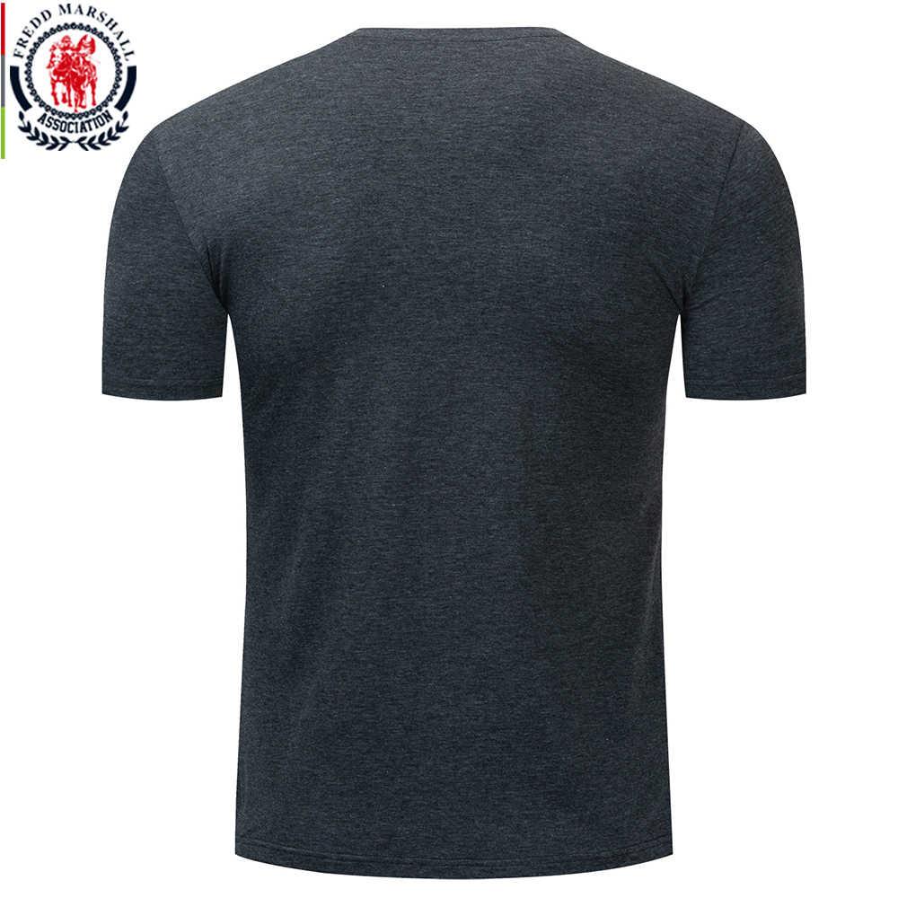 Fredd マーシャル 2019 夏新ニューヨークプリント Tシャツメンズ半袖綿 100% カジュアル O ネック Tシャツ服を 324