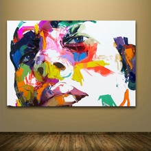 Nielly Francoise Watercolor pop street art people face painting Canvas Painted oil Big Size wall decor pictures