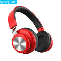 hyperguider Bluetooth Headphone Headband Wireless and wired 3.5mm AUX 4 EQ metal material for Meizu Xiaomi Huawei iPhone