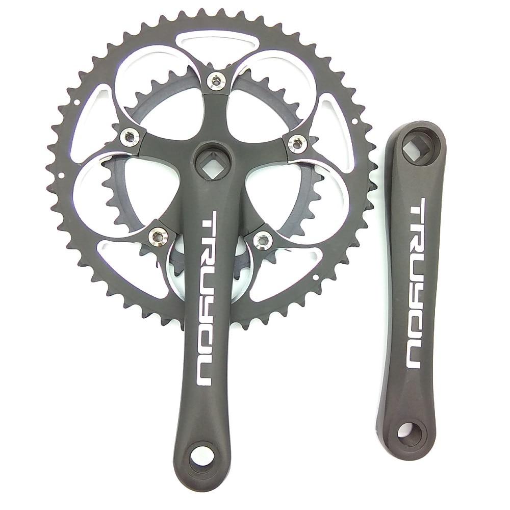 TRUYOU 110 BCD 50/34 T pédalier route vélo chaîne pliante vélo plateaux 2*7/8/9 vitesse Double disque manivelle 170mm noir