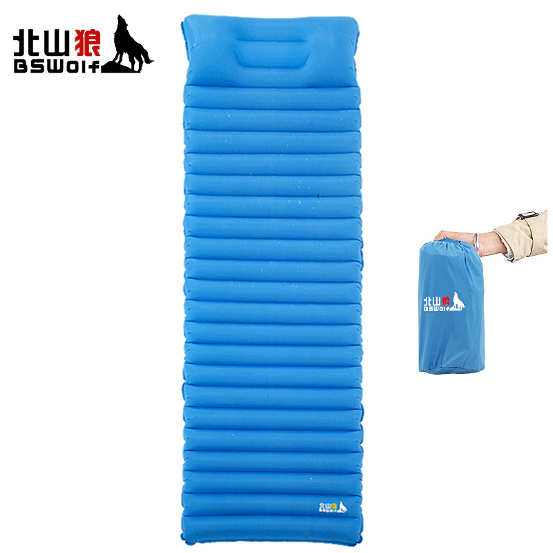 цена на BSWolf Portable Outdoor Camping Mat Inflatable Cushion Beach Travel Moisture-proof Pad Tent Air Mattress Fast Filling Air