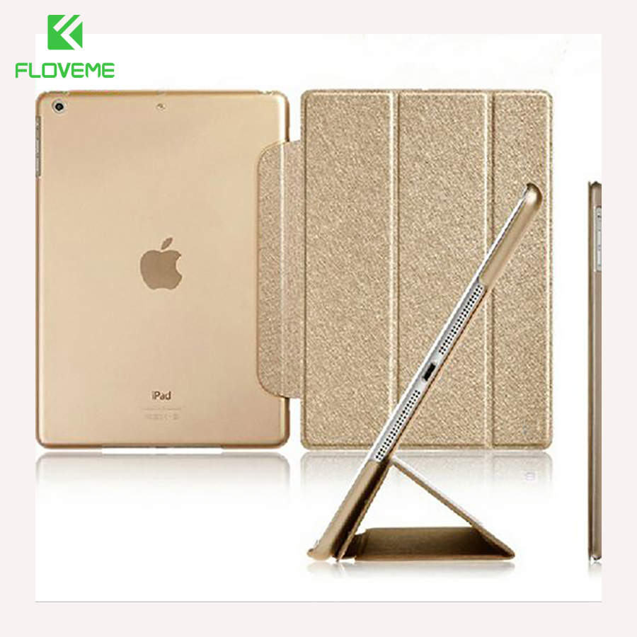 FLOVEME Luxury Leather Case For iPad Mini 1 2 3 4 Case Slim Clear Transparent Smart