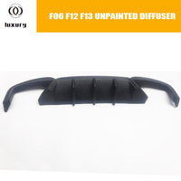 640i 650i ABS Unpainted Rear Bumper Diffuser Protecter for BMW F12 F13 F06 640d 650d with M Package & Real M6 2012 2017