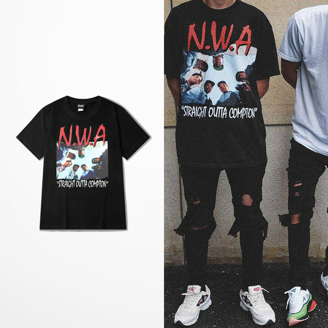 Rush Out Compton T Shirt Nwa Straight Out Compton Memory Hip Hop Men Tshirt Fashion Tshirt Homme Camisetas Hombre Justin Bieber